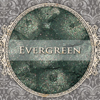 EVERGREEN Mineral Eyeshadow: 5g Sifter Jar, Smokey Medium Green, VEGAN Cosmetics, Shimmer Eye Shadow