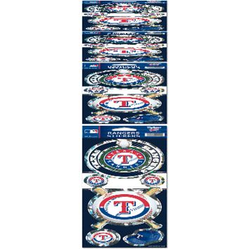 "TEXAS RANGERS OFFICIAL 10.5"" X 4"" PRISMATIC DECAL SET BRAND NEW  SHIPPING"