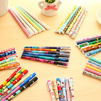 6 pcs set Cute pens 0.38mm Black ink roller pen Kawaii ballpoint School canetas boligrafos gift Stationery Office supply 6824