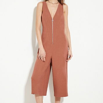 Contemporary Textured Culottes Jumpsuit | LOVE21 - 2000146102