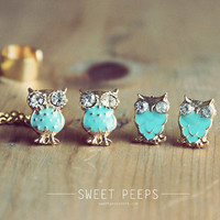 Tiny Owl Ear Cuff Set