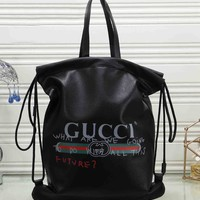 *Gucci* Woman Fashion Leather Travel Bookbag Shoulder Bag