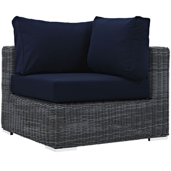 Summon Outdoor Patio Corner Sunbrella Canvas Navy