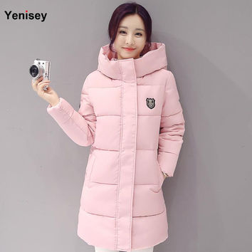 2016 Down parka women autumn winter coat down long coat 8665 winter jacket women coat