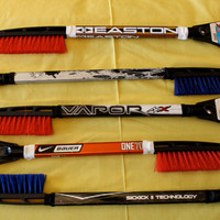 Deluxe Hockey Stick Snow Brush with Ice by HockeyStickStuff