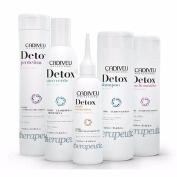 CADIVEU THERAPEUTIC DETOX  HAIR TREATMENT KIT 5 ITEMS