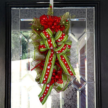 Christmas Door Hanger, Christmas Wreath, Christmas Door Swag