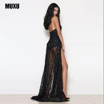 vestidos sexy cheap clothes china black sequin dress slip dress plus size women clothing roupa feminina robe sexy long dresses