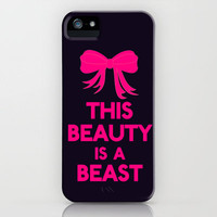 Beauty Is A Beast iPhone Case by productoslocos | Society6