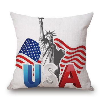 decorative pillows Flag Style Square Pillow Cover Pillowcase velvet covers decorative throw pillows