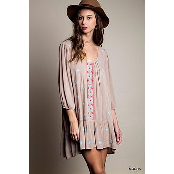 Summer Concert Boho Dress - Taupe