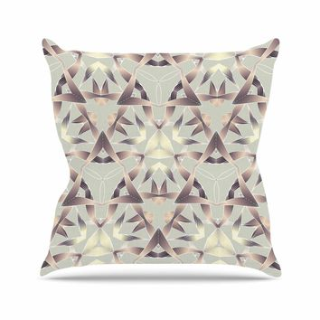 "Angelo Cerantola ""Gold Rust"" Gold Tan Illustration Throw Pillow"