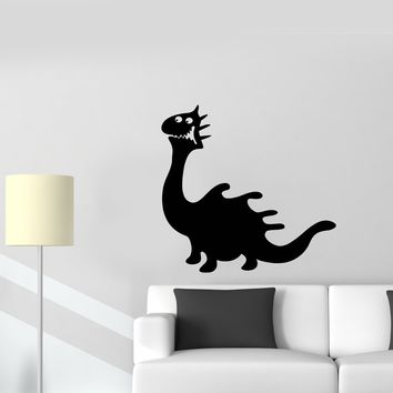 Wall Decal Funny Dinosaur Lizard Monster Dragon Tale Vinyl Sticker Unique Gift (ed584)