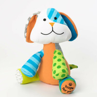 Enesco Romero Britto bebe Puppy Plush NWT  4037362