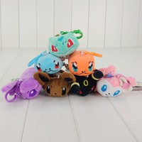 8 Styles 4-6cm Tsum Tsum Eevee Screen Cleaner Bulbasaur Squirtle Charmander Sylveon Espeon Umbreon Plush Toy Stuffed Dolls