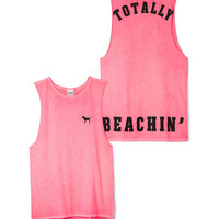 Side Slit Muscle Tank - PINK - Victoria's Secret