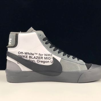 """[ Free  Shipping ]Off-White x Nike Blazer Mid """"All Hallows Eve""""  AA3832-008 Basketball Shoes"""