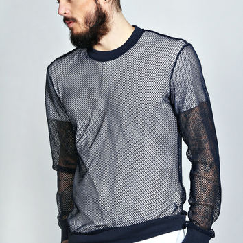All Over Mesh Sweater