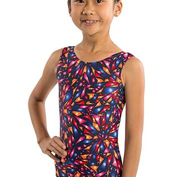 Girls Gymnastics Leotard Shattered Glass Tank Leotard by Lizatards
