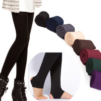 Autumn Winter THICK Warm Brushed Lining Trample Feet Leggings
