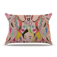 "Vasare Nar ""Alice in Wonderland"" King Pillow Case - Outlet Item"