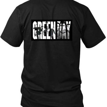 Green Day Facebook Cover Title 2 Sided Black Mens T Shirt