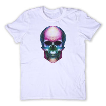 Geometric Skull Tee Hipster Alternative Punk Grunge Human Skull Tumblr Graphic T-shirt