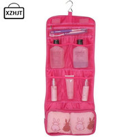 New 2016 Portable Hanging Organizer Bag Foldable Cosmetic Makeup Case Storage Traveling Toiletry Bags Wash Bathroom Accessories