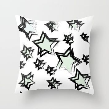 stars Throw Pillow by Valentina Kolar V.OneS