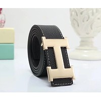"""Hermès"" All-match Simple Unisex Fashion Metal Letter Needle Buckle Belt Couple Waistband"