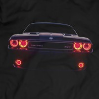 Dodge Challenger SRT Led Headlights Muscle Racing Car T-shirt 100% Cotton Holiday Gift Birthday