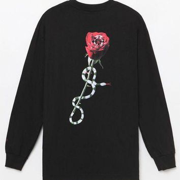 DCCKJH6 Diamond Supply Co OG Script Rose Long Sleeve