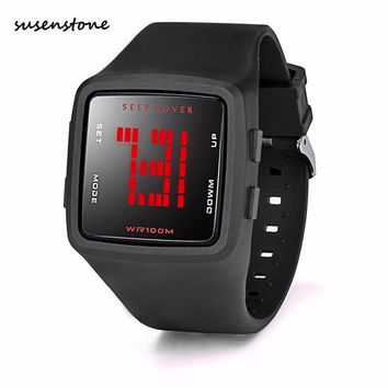 Susenstone Men Waterproof Watch Luxury Fashion LED Digital Sports Watch Male Silicone Square Wristwatch Clock Relojes Hombre Y25