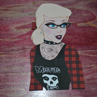 Punk Disney Die Cut Sticker by PunkJunkNYC on Etsy