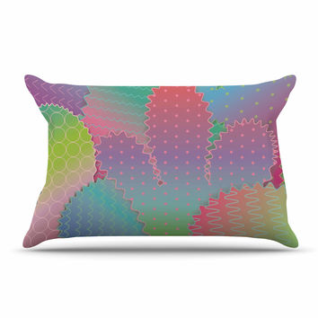 "Graphic Tabby ""Colorful Cacti Garden"" Pastel Nature Pillow Sham"