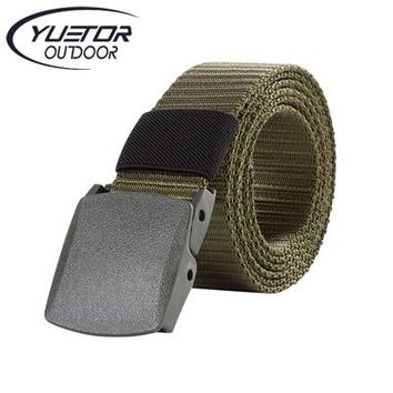Outdoor Nature 125CM Length Outdoor Military Tactical Belt Plastic Buckle Nylon Waist Belts Multicam Molle Automatic Buckle Army Belts