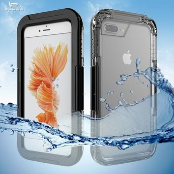 LEPHEE Waterproof Case for iPhone 8 Plus Cover For iPhone 7 Plus 8 Plus Case Swim Waterproof Pouch iPhone8 7 Full Pack Cases