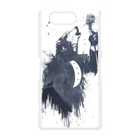 Wolf Song 3 White Hard Plastic Case for Sony Xperia Z3 Mini by Balazs Solti