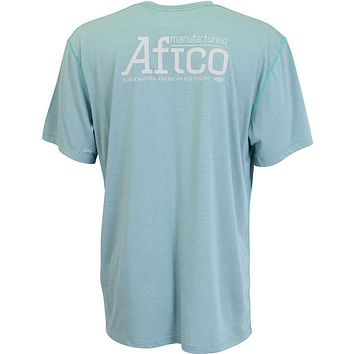 G Man Performance Tee Shirt in Menthol by AFTCO
