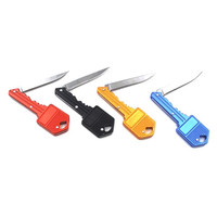 New Useful Key Knife Keychain Key Shaped Folding Pocket Knife Self Defense