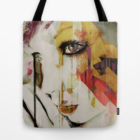 Pages Abstract Portrait Tote Bag by Galen Valle