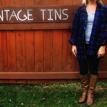 vintage flannel lumberjack shirt. Midwest Clothing Co. soft acrylic work shirt. L size 16-16 1/2. grunge flannel
