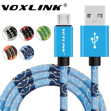 5V2A Micro USB Cable VOXLINK Fast Charging Mobile Phone USB Charger Cable 1m 1.5m 2m Data Sync Cable for Samsung HTC LG Android