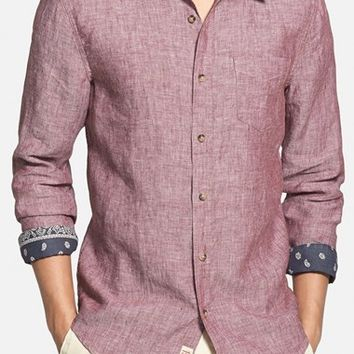 Men's 1901 'Shelton' Trim Fit Linen Woven Shirt,