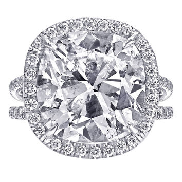 8.89 Carat Cushion Cut Diamond Engagement Ring