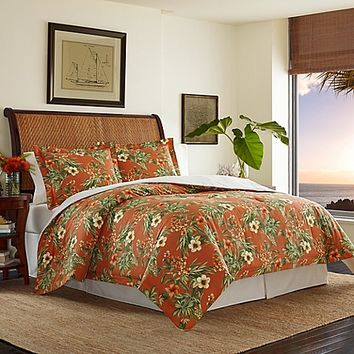Tommy Bahama® Rio De Janeiro Reversible Comforter Set in Red