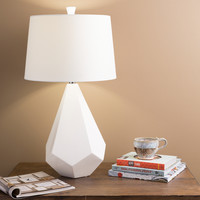 Marvelous Multi-faced White Ceramic Lamp | Overstock.com Shopping - The Best Deals on Table Lamps