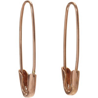 Loren Stewart Rose Gold Safety Pin Earrings at Barneys.com
