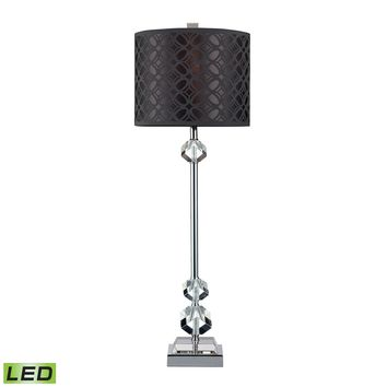 D2161-LED Chamberlain LED Table Lamp In Chrome And Clear Crystal With Laser Cut Shade - Free Shipping!