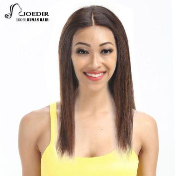 ESBG8W Joedir Lace Front Human Hair Wigs Brazilian Straight Hair Remy Wigs For Black Women 16 Colors Choice Free Shipping